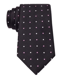 Black Brown 1826 - Classic Fit Silk Woven Dot Tie