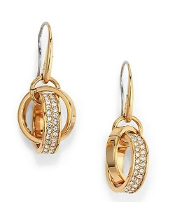 Michael Kors - Pave Link Charm Drop Earrings