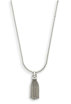 Anne Klein - Out of the Box Link Tassel Pendant Necklace