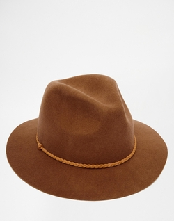 Asos - Braid Band Felt Fedora Hat