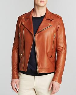 Kent and Curwen  - Leather Biker Jacket - Bloomingdale