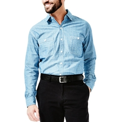 Haggar - Cross Hatch Chambray Shirt