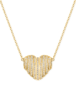 Swarovski  - Changeable Crystal Pavé Heart Pendant Necklace