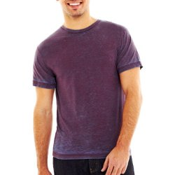 Jc Penney - Solid Duo Dye Crewneck Tee Shirt