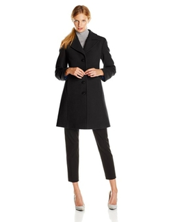 Larry Levine - Classic Single-Breasted Notch-Collar Coat