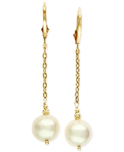 Effy - Pearl Chain Dangle Earrings