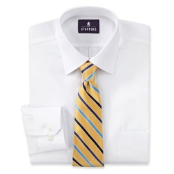 Stafford - Boxed Easy-Care Dress Shirt & Tie Set