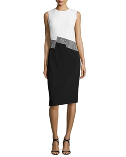 Narciso Rodriguez - Sleeveless Colorblock Knit Dress