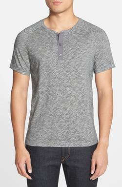 Vince  - Short Sleeve Henley T-Shirt