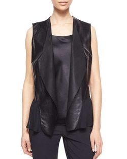 Lafayette 148 New York  - Shelene Leather Vest