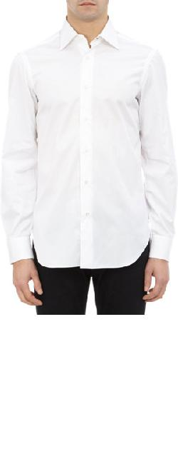 BARBA  - Tonal Herringbone Dress Shirt