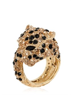 Roberto Cavalli  - Panther Ring with Swarovski Crystals