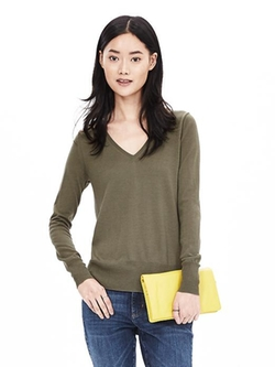 Banana-Republic - Wool Trapeze Pullover Sweater