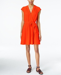 Maison Jules - Cap-Sleeve Wrap Dress