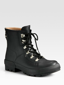 Hunter  - Short Lace-Up Combat Boots