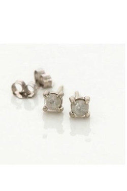 Melanie Casey - Gray Diamond Studs Earrings