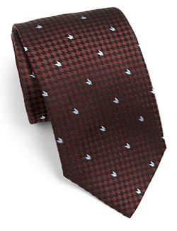 Armani Collezioni  - Herringbone Print Silk Tie