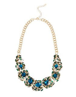 Cara - Rhinestone Statement Necklace