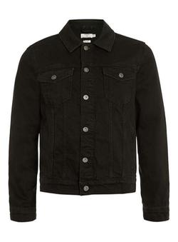 Topman - Washed Black Denim Western Jacket