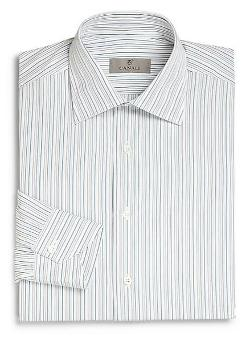 Canali  - Stripe Cotton Dress Shirt