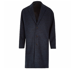 River Island - Smart Wool-Blend Overcoat