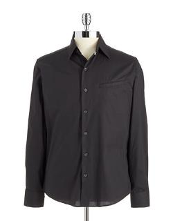 Vince Camuto - Solid Button-Up Shirt