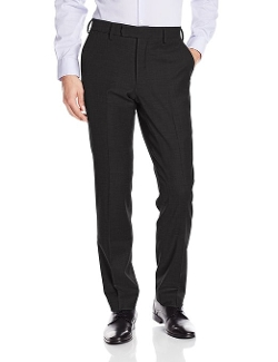 Louis Raphael - Slim Fit Flat Front Wool Blend Dress Pants