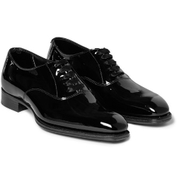 Kingsman   - Patent-Leather Oxford Shoes
