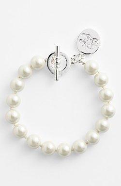 Lauren Ralph Lauren - Glass Pearl Toggle Bracelet