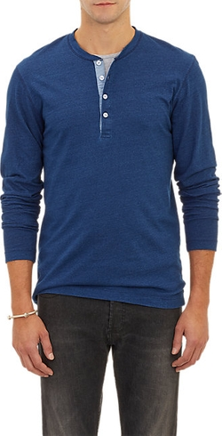 Barneys New York - Long-Sleeve Henley Shirt