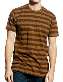Made By Johnny  - MBJ Mens Vintage Crew Neck Classic Striped Short Sleeve T Shirt
