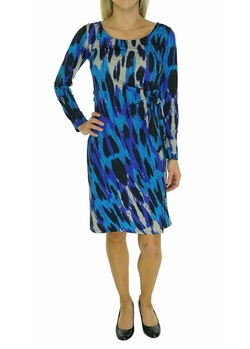 Inc International Concepts - Long Sleeve Faux Wrap Dress