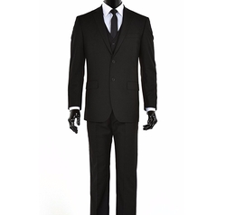 King Formal Wear  - Elegant Two Button Three Piece Suit