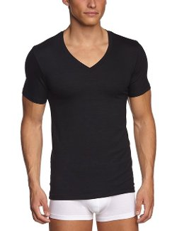 Hanro  - Silk Modal Short Sleeve V-Neck Shirt