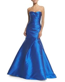 Monique Lhuillier - Sweetheart-Neck Mermaid Gown, Cobalt