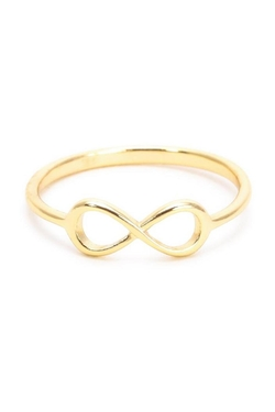 Earthy Chic - Silver Infinity Ring
