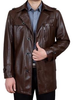 Erechtheus - Shoulder Epaulets Faux-Leather Jacket