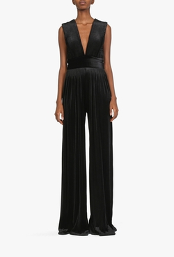 Balmain - Stretch Velvet Jumpsuit