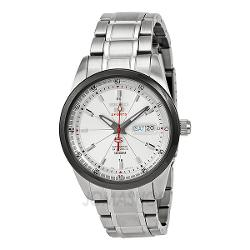 Seiko  - Automatic White Dial Stainless Steel Bracelet Mens Watch h