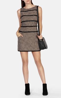 Karen Millen - Fringed Tweed Shift Dress