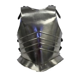 RedSky Trader - Mens Knight Medieval Steel Breastplate Costume