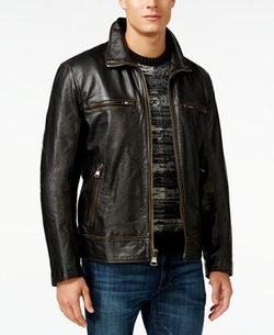 Marc New York  - Waverly Leather Bomber Jacket