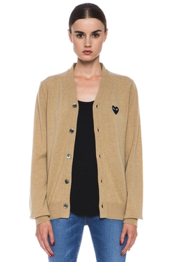 Commes Des Garcon Play - Wool Black Heart Emblem Cardigan