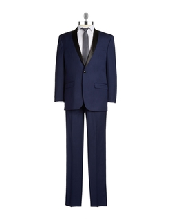 Sean John - Two-Piece Satin-Trimmed Suit
