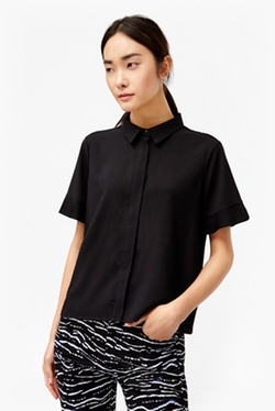 French Connection - Polly Plains Frilled Sleeves Shirt