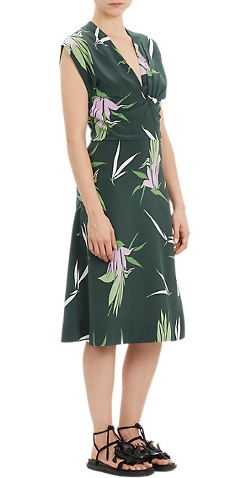 Marni - Pleated Floral-Print Dress