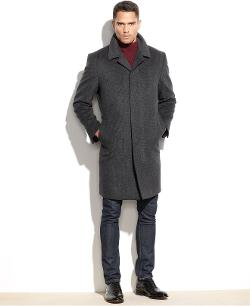 London Fog  - Coventry Check Wool-Blend Overcoat