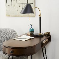Westelm - Mid-Century Task Table Lamp - Black