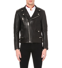 The Kooples  - Zip-Detail Leather Biker Jacket