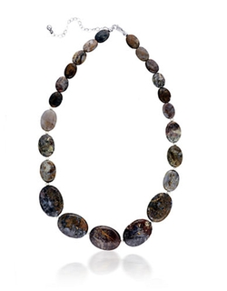 Lord & Taylor  - Pietersite And Sterling Silver Necklace